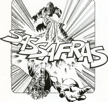 Logo for Welsh band Sassafras